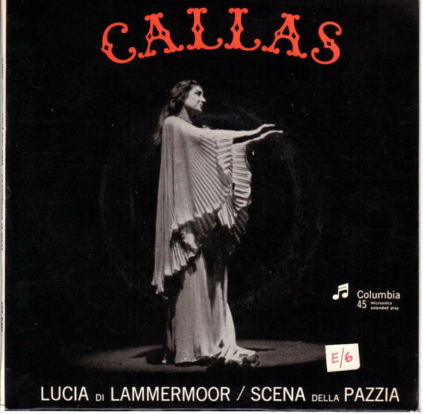 Maria Callas first, 1953, complete official and emblematic Lucia recording - highlightsvrecord cover, Dr. Kyriakos Loukakos archive
